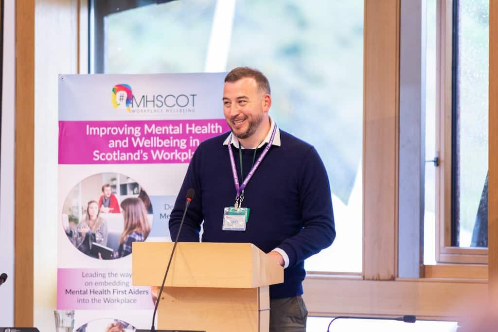 Scott Newby presenting